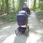 Far var også med på første tur med Magnus i barnevognen